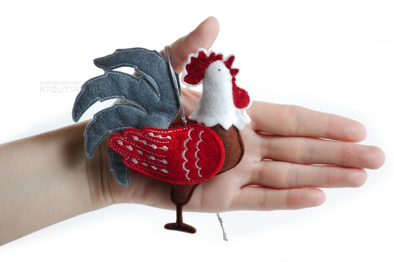 Новогодний петух игрушка своими руками