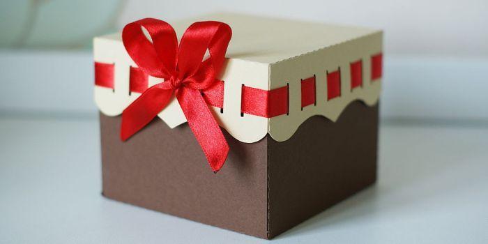 Сделать большую коробку для подарка своими руками