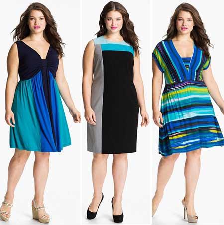 Летнее платье для полной девушки