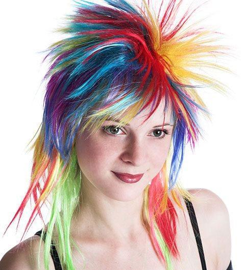Модные волосы 2013 - неоновое окрашивание