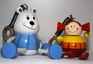 Деревянные игрушки - куклы и фигурки