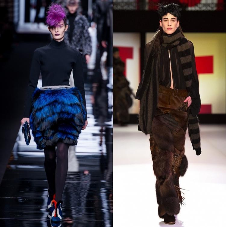 Меховые юбки 2013 осень зима