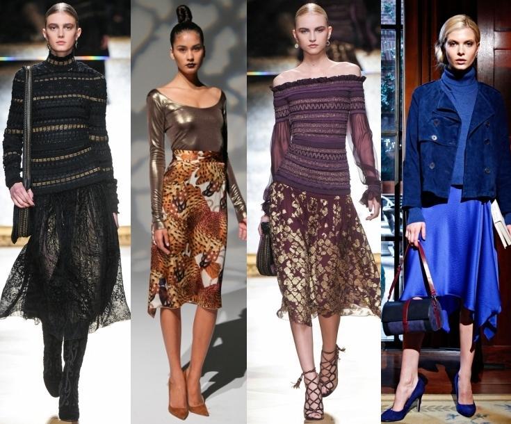 Модные юбки 2013 года - цвет