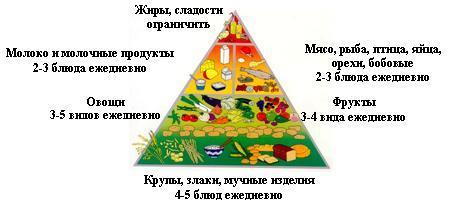Таблица правильного питания
