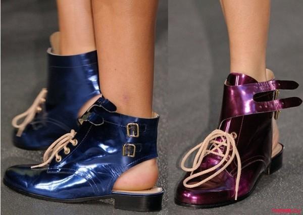 Модные туфли без каблука на лето-осень  2013 - Открытые ботинки