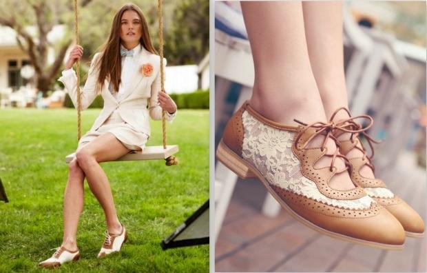 Модные туфли без каблука на лето-осень  2013 - Лоферы и броги