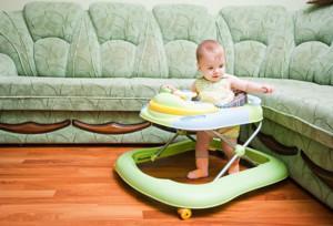 Детские ходунки - польза или вред