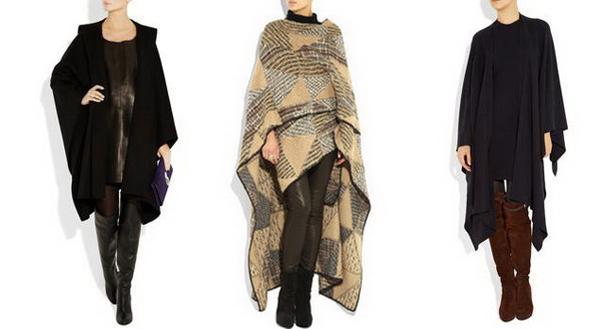 Самые модные пончо для осени 2013 года