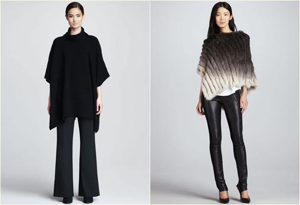 Модные пончо 2013