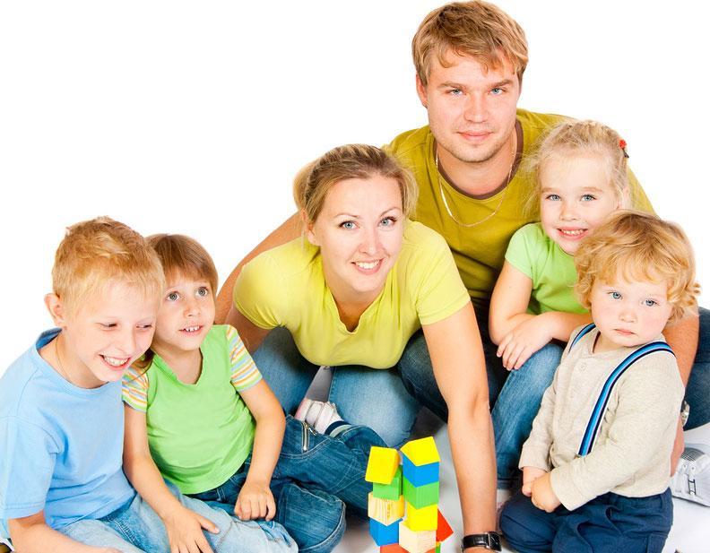 Льготы многодетным семьям в России в 2013 году