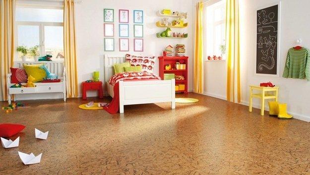 Виды покрытия на пол в детскую комнату – пробковые полы