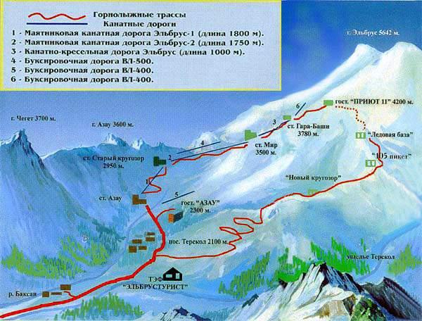 Горнолыжный отдых в России - Приэльбрусье