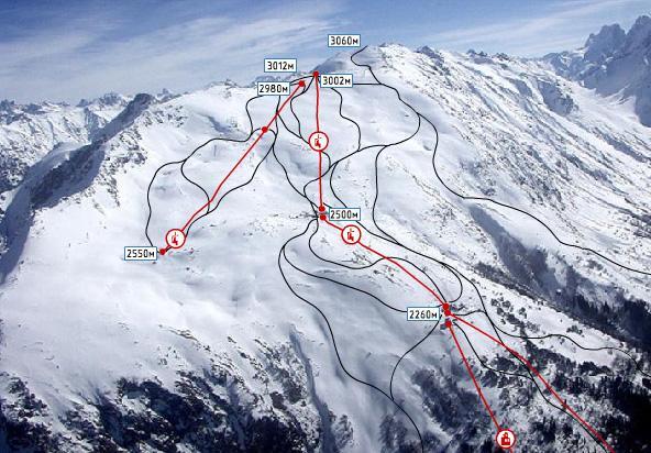 Популярный горнолыжный курорт России - Домбай