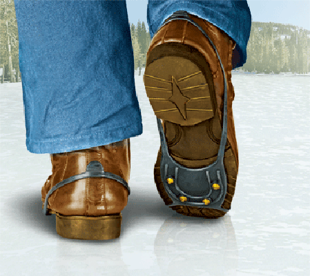Насадки для обуви от гололеда