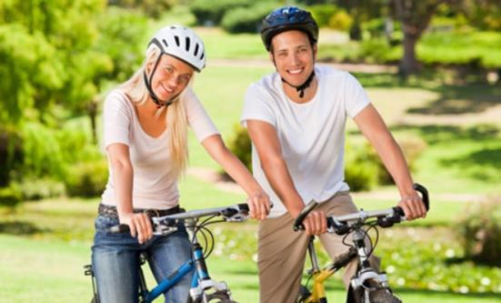 Плюсы езды на велосипеде