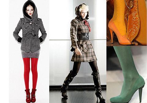 Как и с чем носить цветные женские колготки