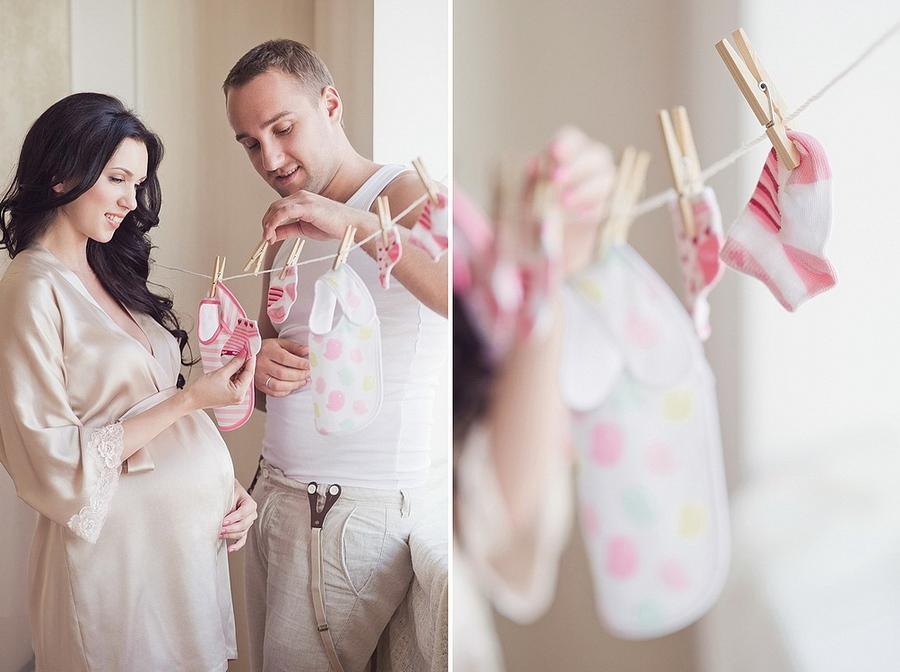 Идея фотосессии для беременных фото дома