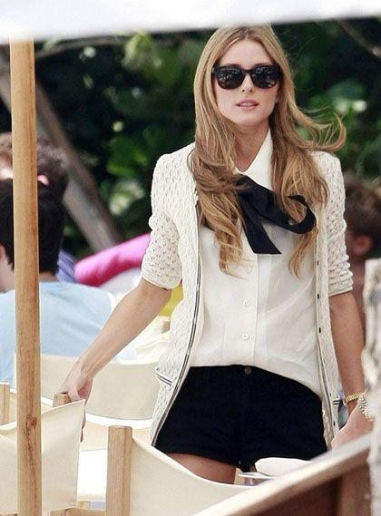 "Olivia Palermo and Whitney Port film a scene for ""The City""? at the W Hotel in Miami Beach"