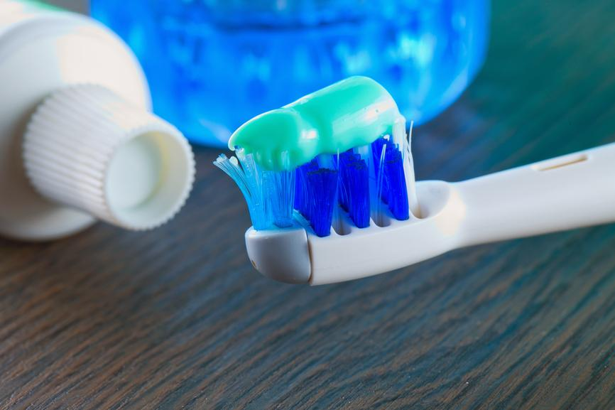 Toothbrush, toothpaste and mouthwash