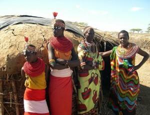семья в африке