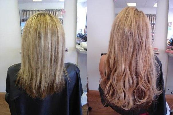 Наращивание волос ультразвуком