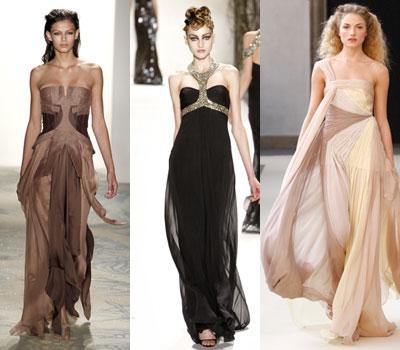 Девушки в длинных платьях и юбках