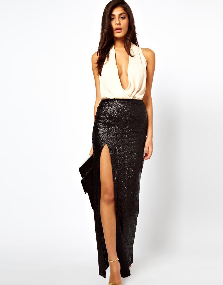 Узкие юбки с разрезом