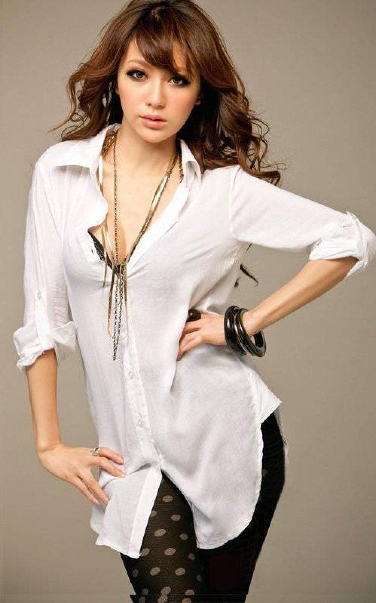 Белая Рубашка-Блузка