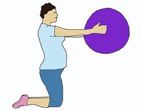 Упражнение для груди - 3 триместр беременности