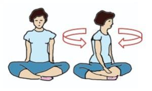 2 триместр беременности - упражнение с поворотами