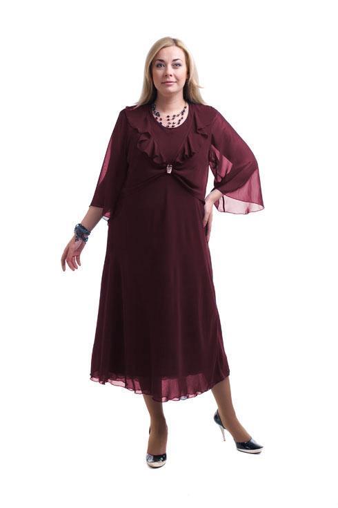 Платье свободного кроя из шифона LacyWear