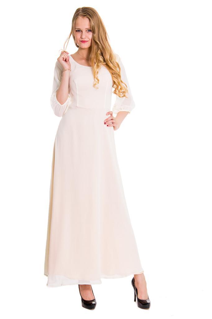 Платье в пол расклешенное с рукавами 3/4 LacyWear