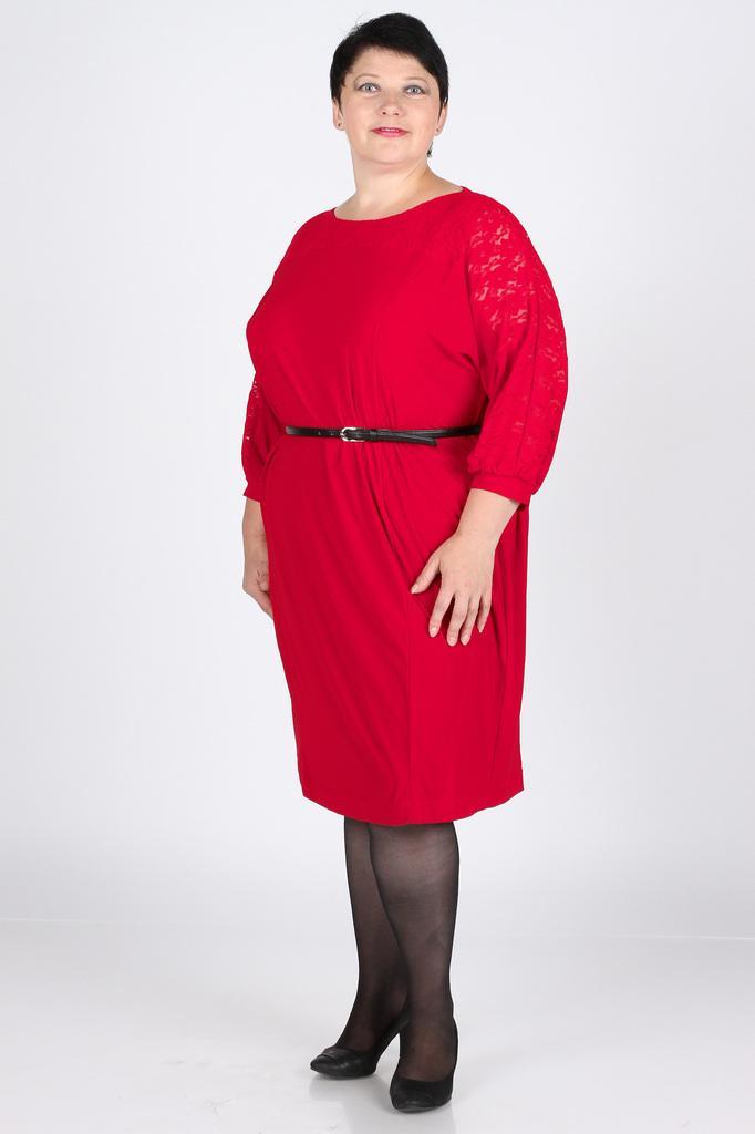 Платье футляр трикотажное с гипюром LacyWear
