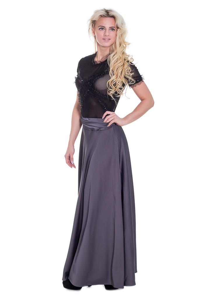Платье в пол с полупрозрачным лифом LacyWear