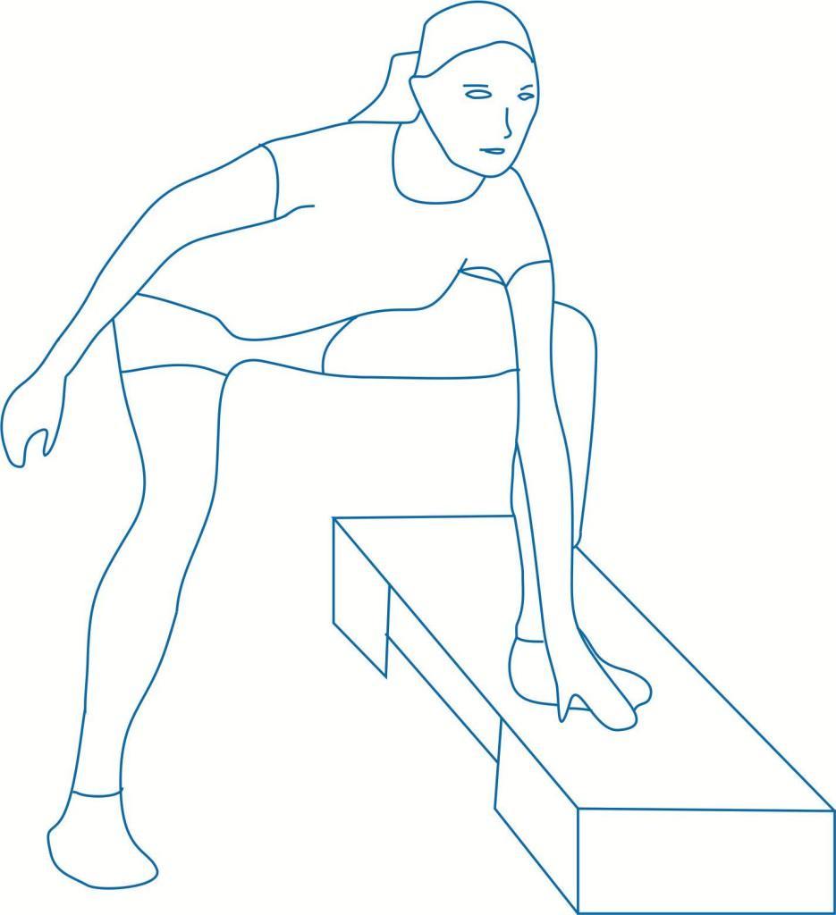 Упражнение с упором рукой