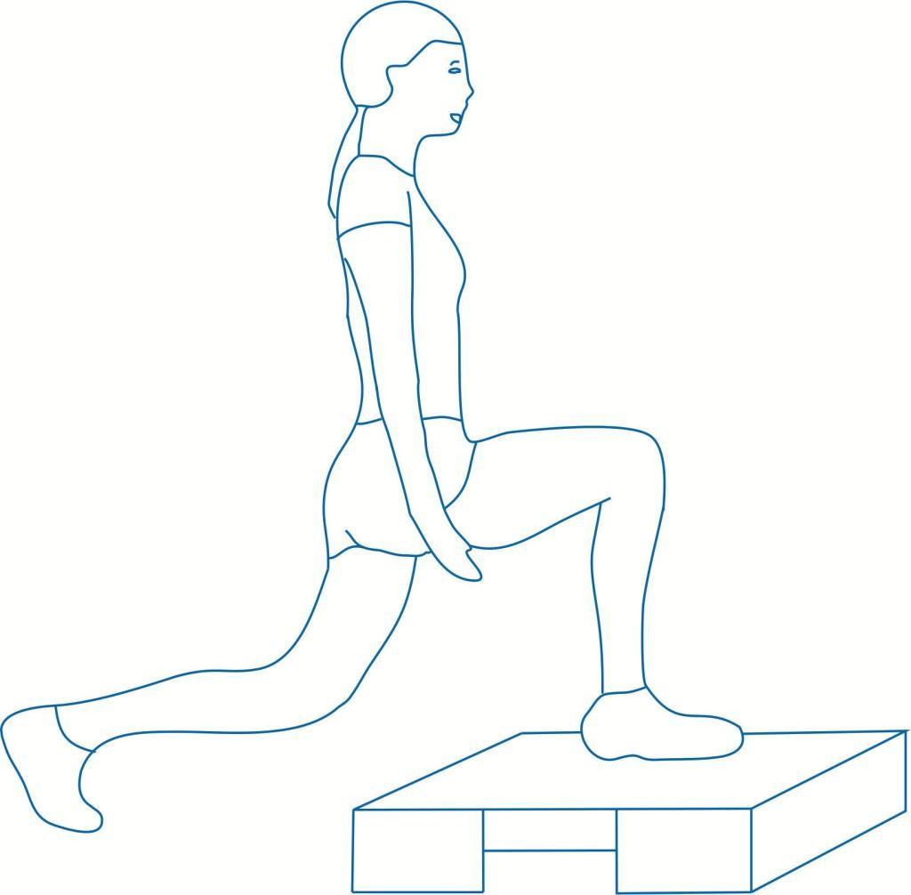 Упражнение для растяжки мышц бедер
