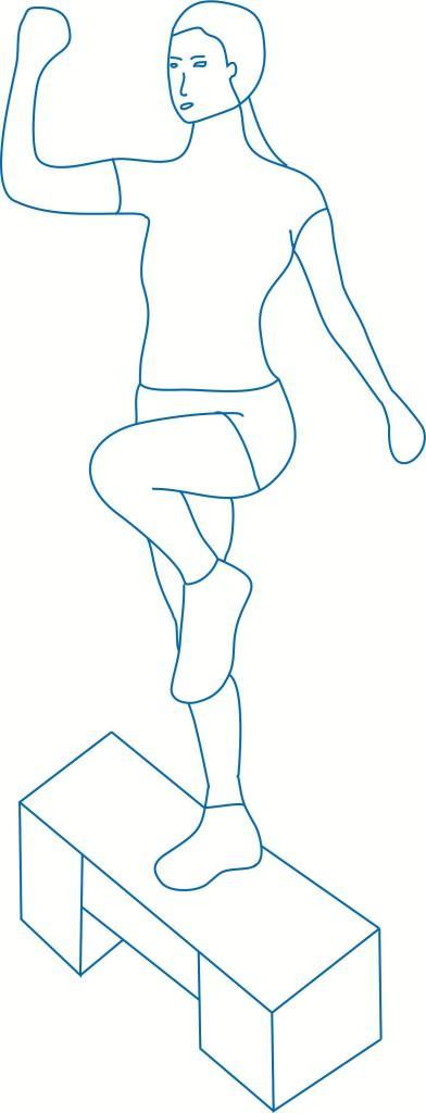 Упражнение Шаг–колено