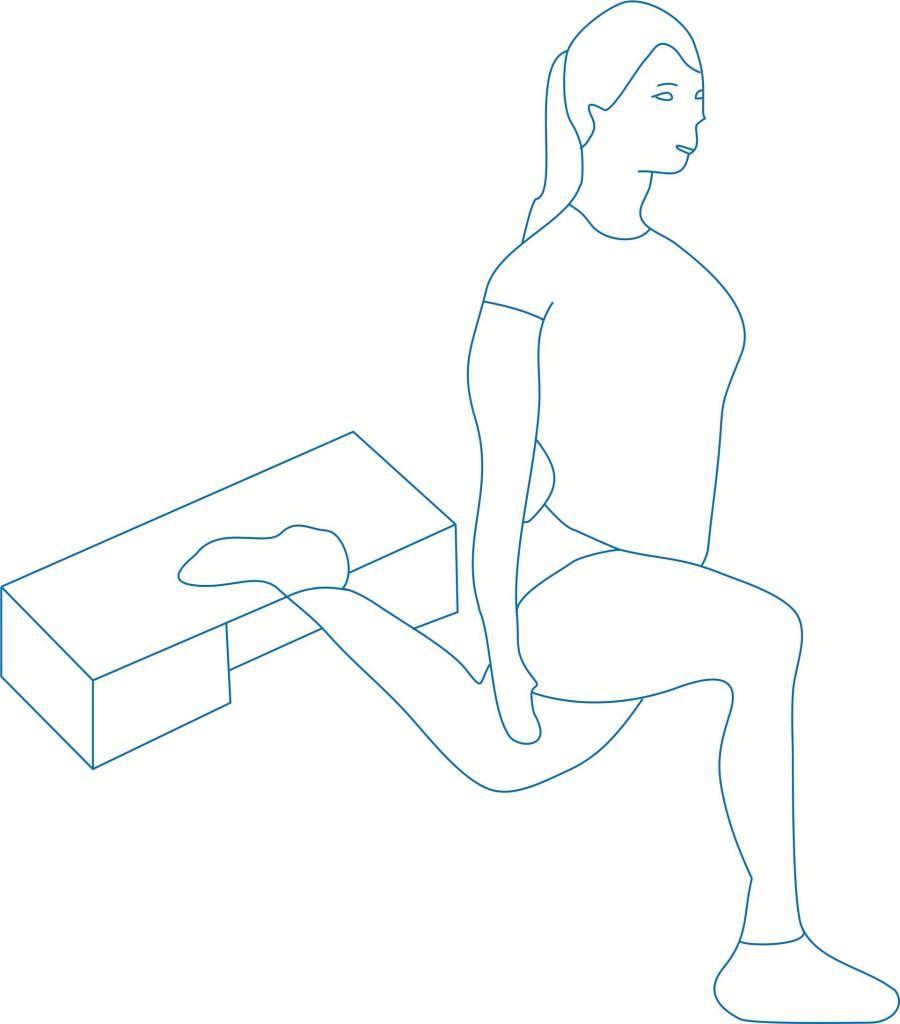 Упражнение - растяжка для ног