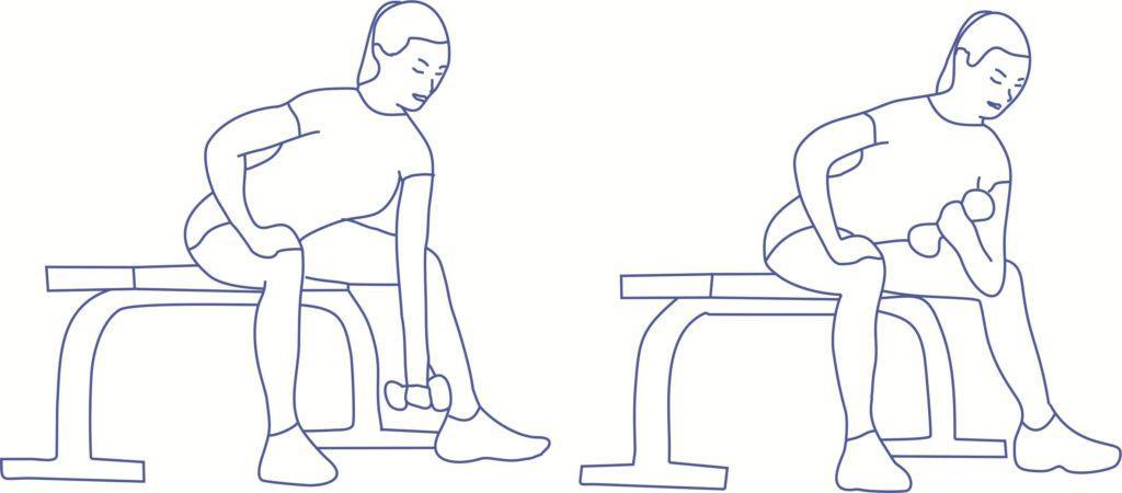 Упражнение 1 от дряблости рук для бицепса