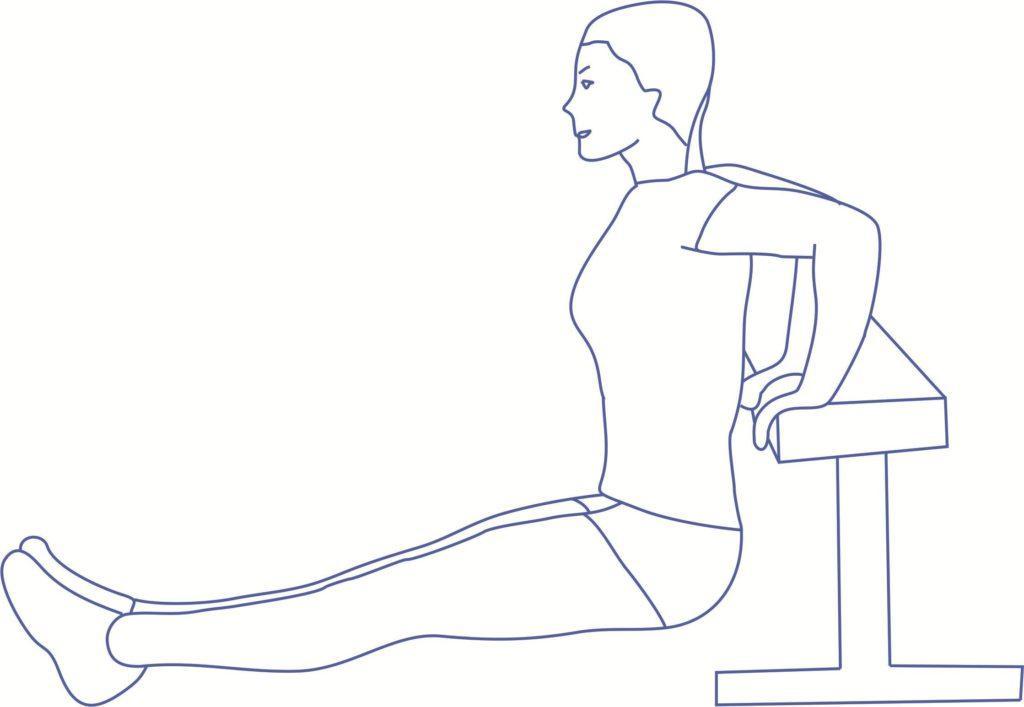 Упражнение 4 от дряблости рук для трицепса