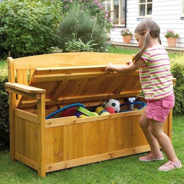 Игровой уголок для детей на даче
