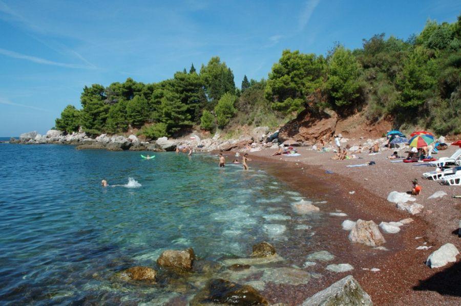 Черногория, пляж Красный пляж