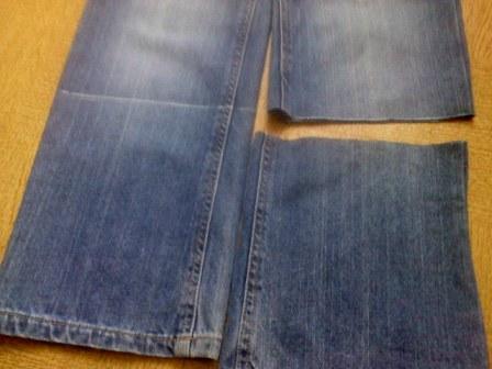 Делаем из джинсов капри
