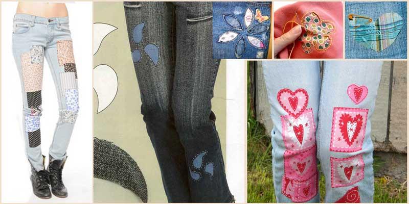 Делаем на джинсах аппликации-заплатки