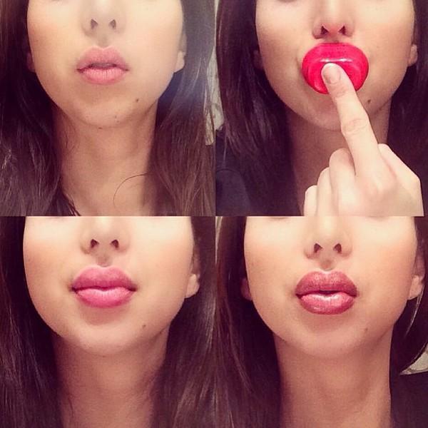 Как сделать губы дома
