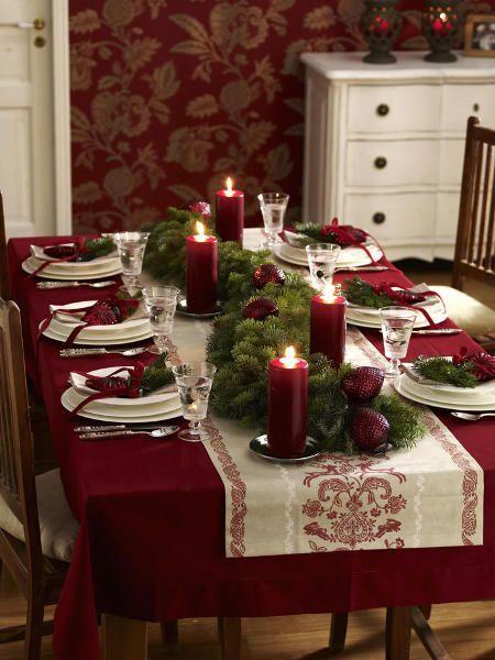 Оформление стола на Новый год 2017 Петуха