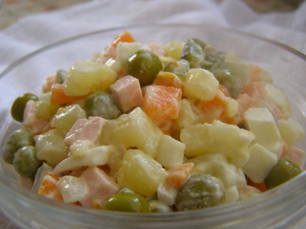 Оливье рецепт классический с пошагово