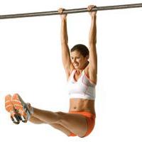 Упражнение уголок - поднимание ног в висе