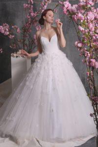 Платье Christian Siriano белое с розоватым подтоном
