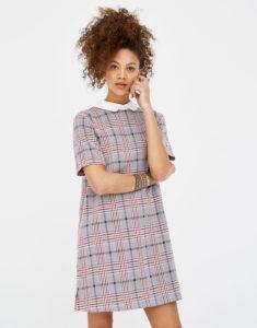 Платье с белоснежным воротничком из Pull&Bearза